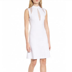 Sentimental NY White Mesh Galactica Dress Med